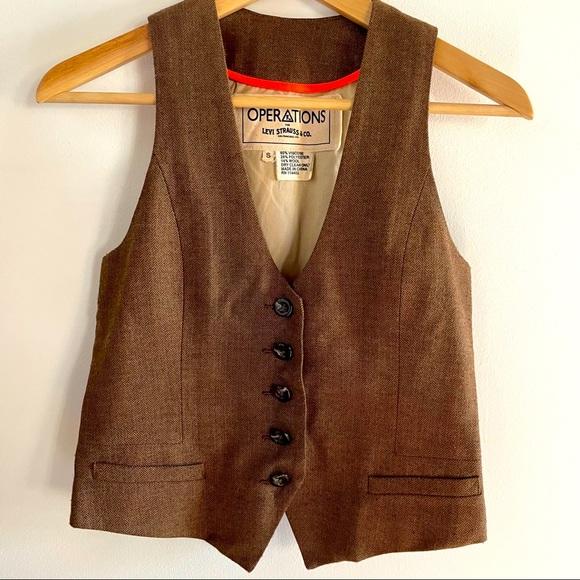 Levi's Vintage Style Herringbone Vest. Size S.